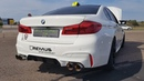 750HP BMW M5 F90 with Straight Piped REMUS Exhaust LOUD Revs Drag Racing