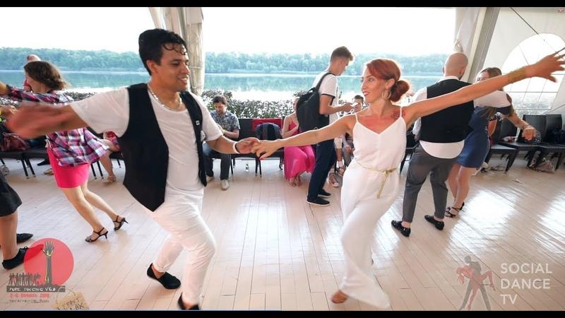 Boris Natalia Salsa social dancing at the 2018 The Third Front Salsa Festival