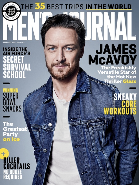 James McAvoy Mens Journal, 2019