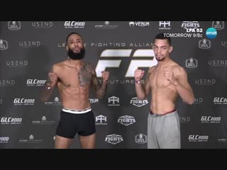 weigh-ins from Belton, Legacy Fighting Alliance 52