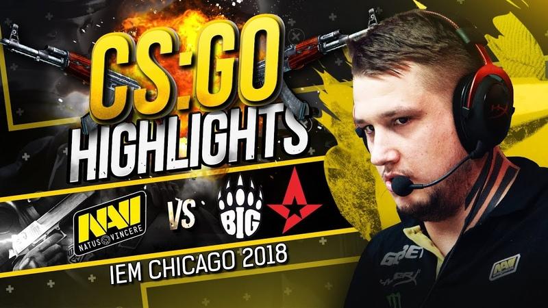 CSGO Highlights NAVI vs Astralis, BIG @ IEM Chicago 2018