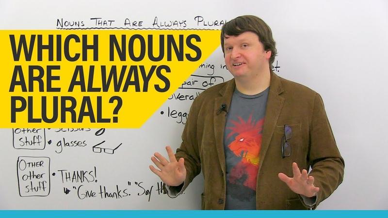 English Grammar Vocabulary: Permanent Plurals