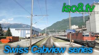 [FHD60p] CabView : SBB Re4/4, Switzerland Vol.1 Climbing Gotthard-pass
