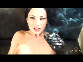 Abbie Cat Smoking and Fucking POV in Fishnet