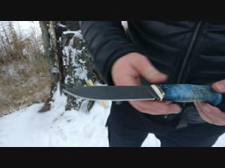 Тест-Обзор ножа Филин из Булатной стали