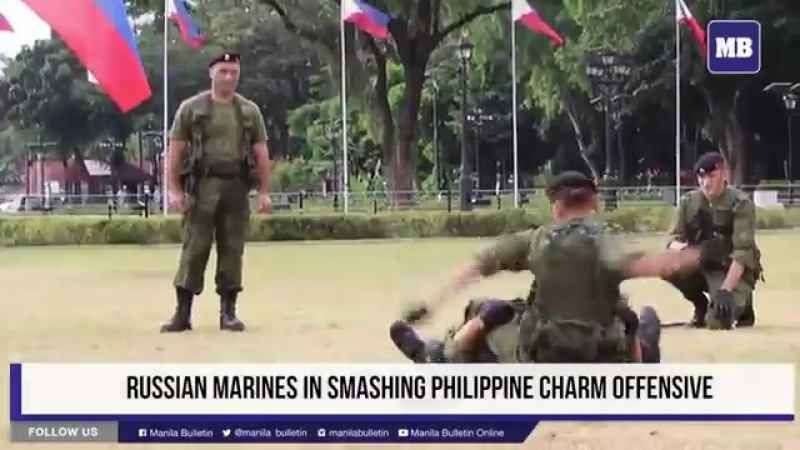Русские МорПехи на Филиппинах.Наши парни представляют РОССИЮ.mp4
