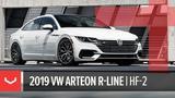 Vossen Hybrid Forged HF-2 Wheel 2019 VW Arteon R-Line Brushed Gloss Black