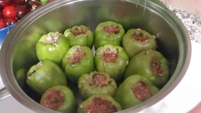 ФАРШИРОВАННЫЕ ПЕРЦЫ легко и вкусно болгарский перец с фаршем ИЗМИР ТУРЦИЯ