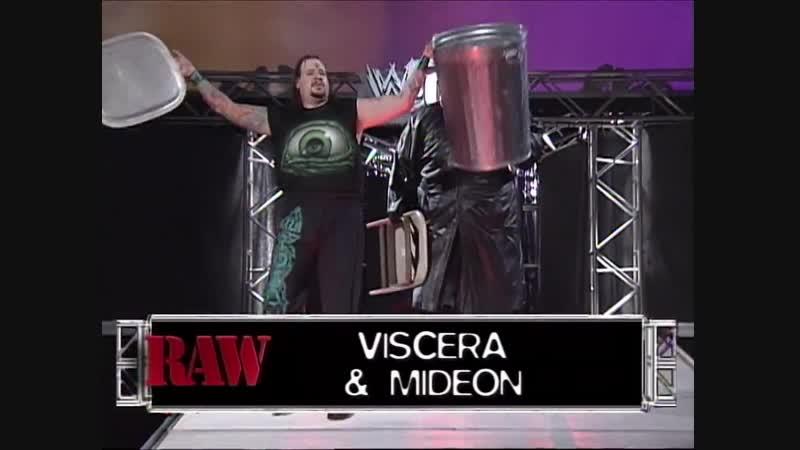 Cactus Jack Vs Mideon Viscera - 2 On 1 Handicap Hardcore Match - RAW 10.05.1999