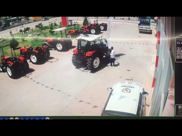 Gaziantep'de Traktörün altinda kalan kişi feci şekilde can verdi