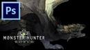 Rathian - Monster Hunter World   Photoshop Painting