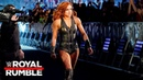 Becky Lynch takes Lana's place in the Women's Royal Rumble Match: Royal Rumble 2019 (WWE Network)
