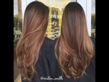 Corte de cabelo em camada - Fa