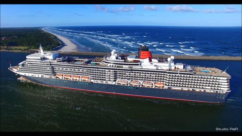 Kruizinis laivas QUEEEN ELIZABETH atvyksta į Klaipėdos uostą