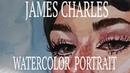 James Charles WATERCOLOR SPEEDPAINT