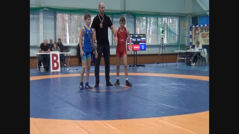 Финал за 1 место весовая категория до 46 кг Акоев Хачик ( Москва) (красный) -- Мешканцов Николай ( г. Калуга ) (синий)