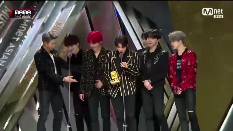 181214 BTS - Mwave Global Fans Choice Award @ 2018 MAMA in Hong Kong