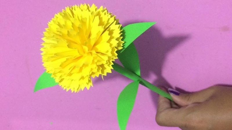 How to Make Carnation Flower with Paper | Making Paper Flowers Step by Step | DIY-Paper Crafts