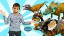 Игрушки динозавры Collecta — Видео для детей — Парк динозавров