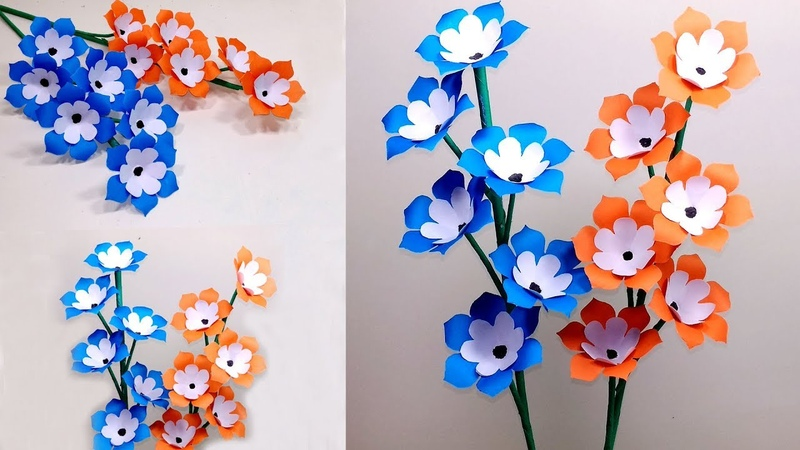 How to Make Beautiful Paper Stick Flower Handcraft for Home Jarine's Crafty Creation