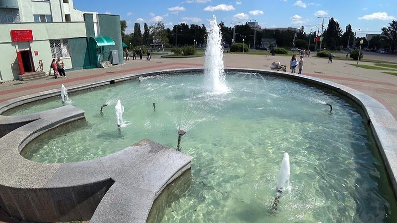 4K The Crown Fountain in Gomel Belarus Фонтан Корона Гомель