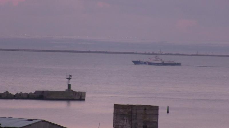 Вечерний обзор керченского пролива.Охрана моста и пролива.
