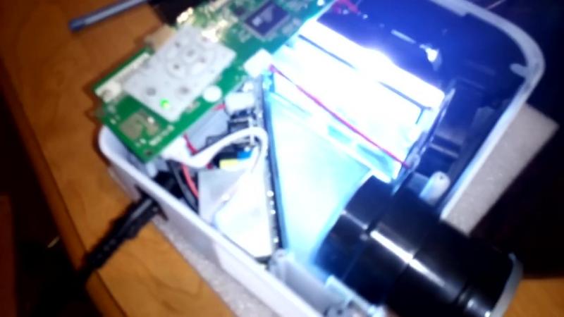 SEMPro Включаем разобранный проектор принцып работы наглядно