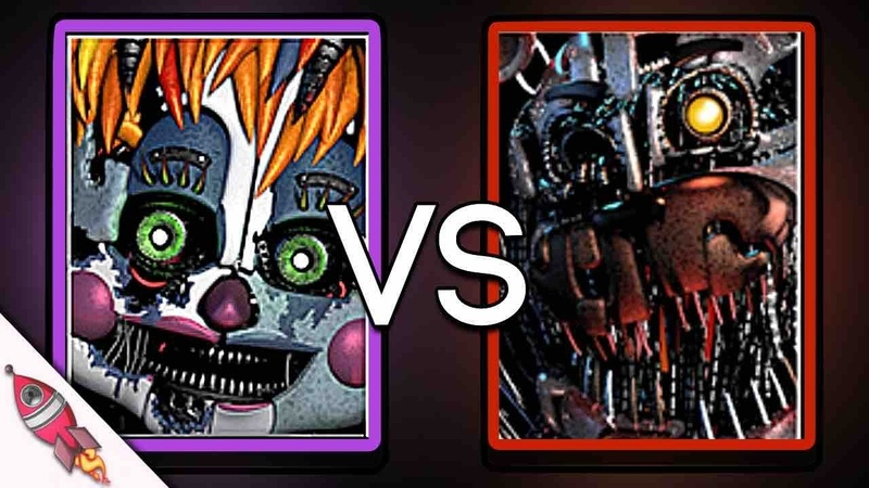 Five Nights At Freddy's Custom Night Rap Battle Scrap Baby VS Molten Freddy Rockit Gaming
