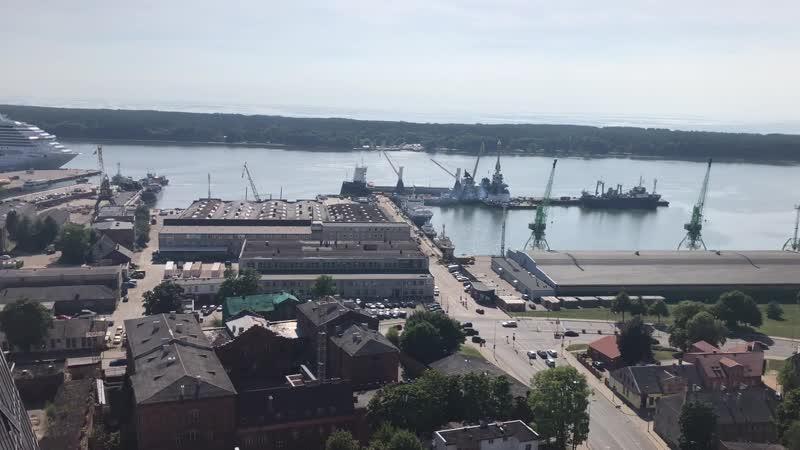 Порт Клайпеда с вверху 🌆