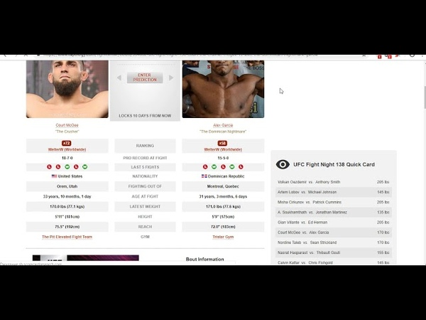 Прогноз и аналитика от MMABets UFC FN 138 Виланте-Херман, Гарсия-Макги. Выпуск №121. Часть 46