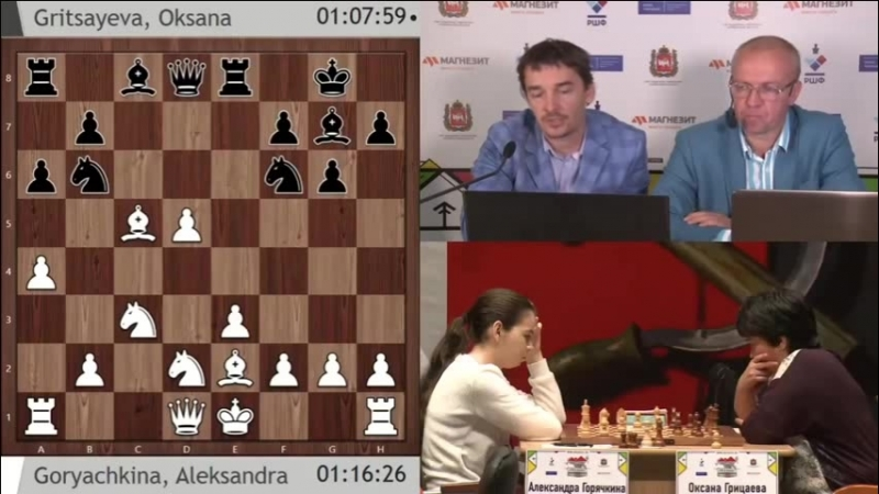 Суперфинал 2018 9 тур А.Горячкина - О.Грицаева (С.Шипов)