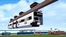 Minecraft Wuppertal Suspension Monorail G15 Train Tutorial