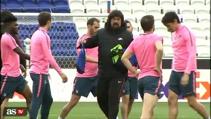Final Europa League 45 minutos de intenso entreno del Atleti