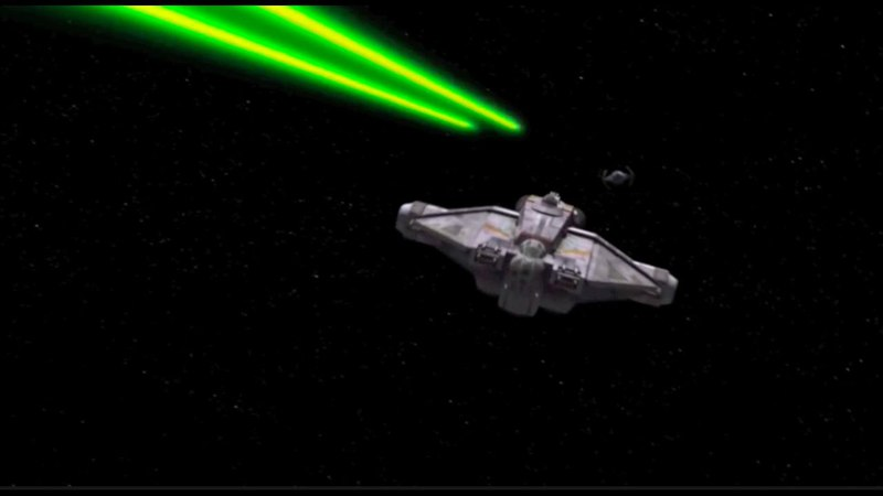 Star Wars Rebels: Ghost vs. TIE Advanced (if the Ghost didn't have plot armor)