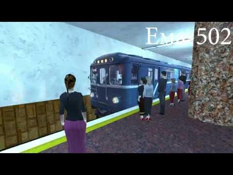 Парад поездов от самого старого до самого нового в Metrostroi Subway Simulator 2018