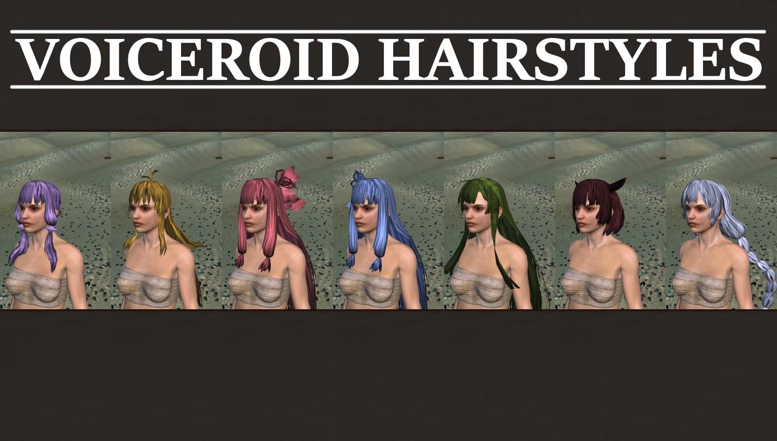 VOICEROID Hairstyles / Прически