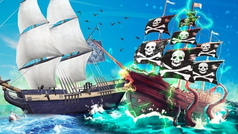Coffi Channel НАПАЛИ НА ПОДВОДНЫЙ КОРАБЛЬ СКЕЛЕТОВ! БИБА И БОБА И АРМИЯ ПРОКЛЯТЫХ СКЕЛЕТОВ В SEA OF THIEVES