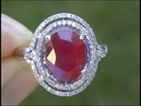 Vintage Estate 4.33 ct Certified Burma Ruby Diamond Ring $16,388 Appraisal eBay Auction