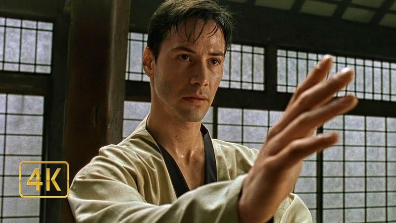 Ударь меня если сможешь. Нео дерётся против Морфеуса в тренировочной программе. Матрица (1999)