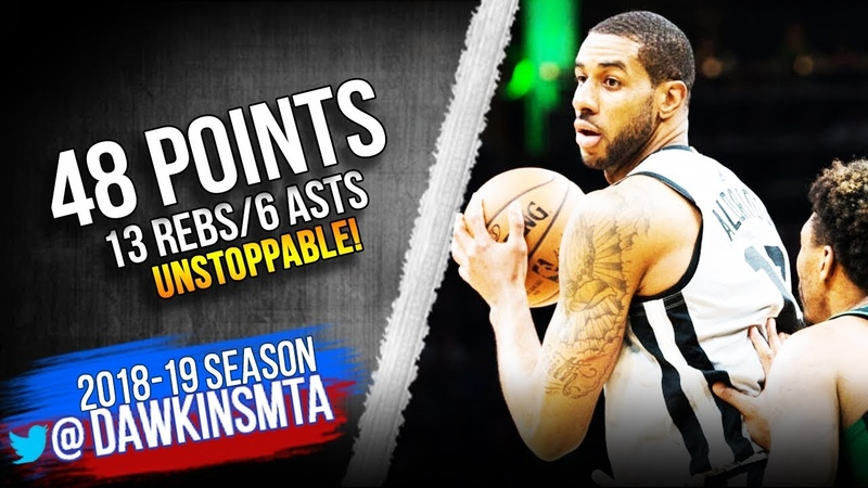 LaMarcus Aldridge Full Highlights 2019.03.24 Spurs vs Celtics - 48-13-6! | FreeDawkins