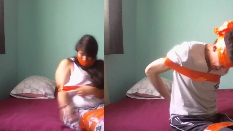 Another Duct Tape Challenge BOY VS GIRL