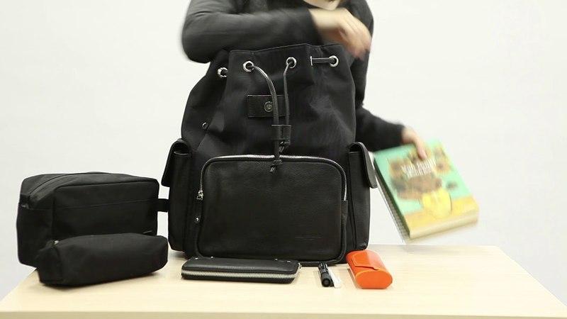 Рюкзак кожаный Obey Propaganda Pocket Black