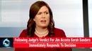 Following Judge's Verdict For Jim Acosta Sarah Sanders Immediately Responds To Decision(VIDEO)