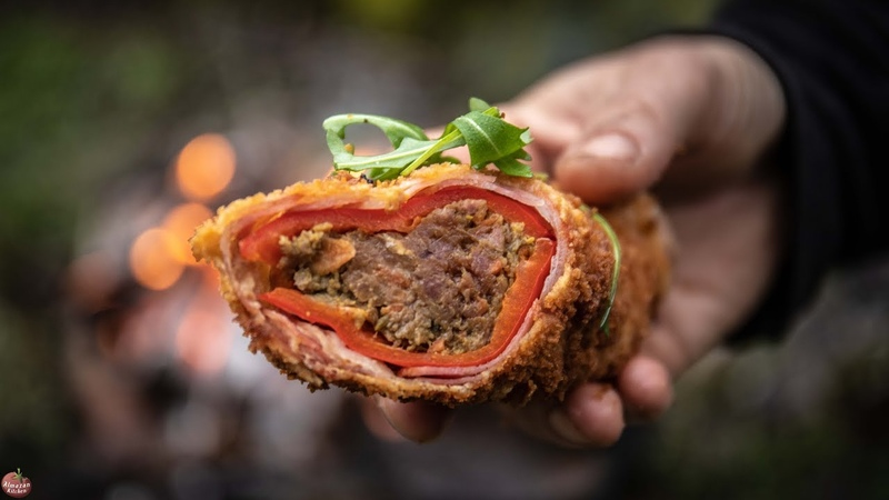 BEST BACON ROLLED FRIED PEPPERS BUSHCRAFT FOOD