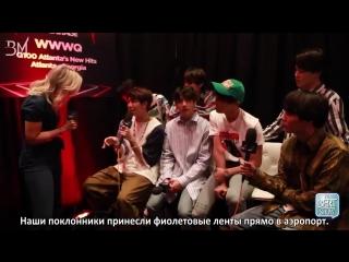 [RUS SUB][20.05.18] BTS Interview @ The Bert Show