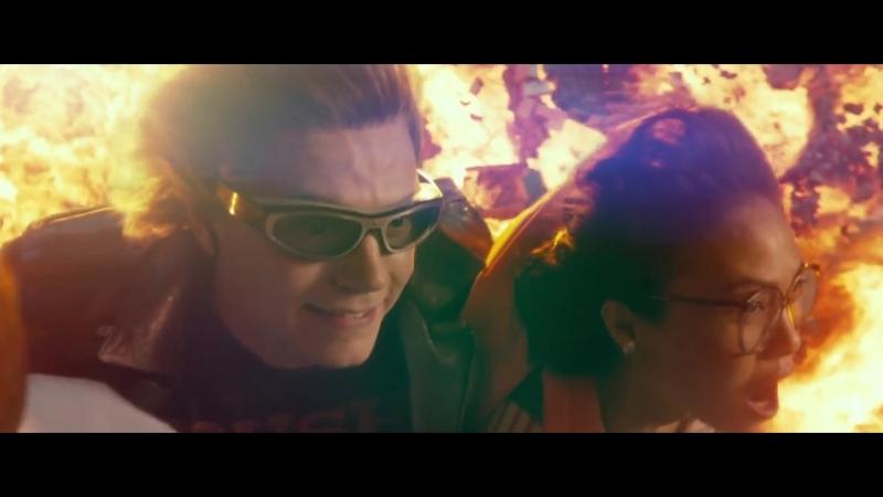 Ртуть спасает людей из взрывающегося особняка   Люди Икс: Апокалипсис (2016)