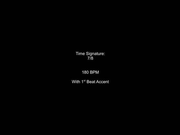 Metronome 7/8 180BPM w/ 1st Beat Accent