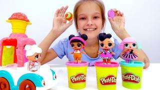 Куклы ЛОЛ и игры с Плей До. Гуляем в парке.