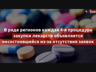 ОНФ просит ФАС и Минздрав РФ принять срочные меры по налаживанию процедур закупки жизненно важных лекарств