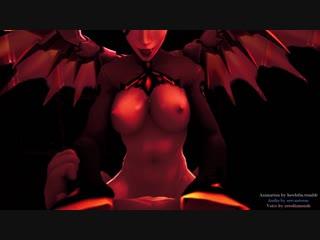 Mercy on top devil version (overwatch sex)